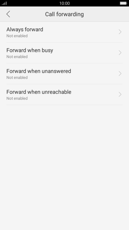 Cancel all diverts - OPPO F1s - Optus