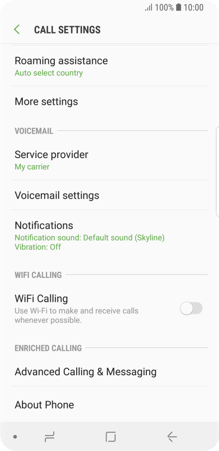 Turn caller identification on or off - Samsung Galaxy S9 - Optus