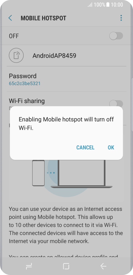 Use mobile phone as Wi-Fi Hotspot - Samsung Galaxy S8 - Optus