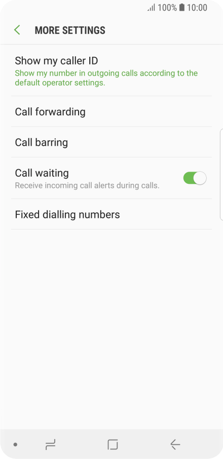 Divert calls to your voicemail - Samsung Galaxy S9 - Optus