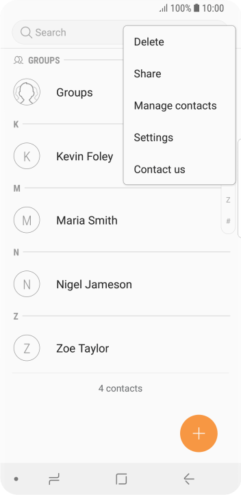 Merge identical contacts - Samsung Galaxy S9 - Optus