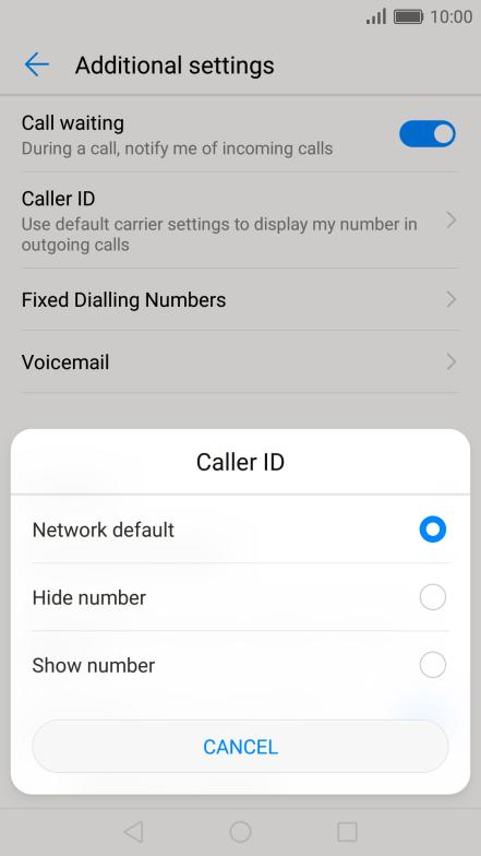 Turn caller identification on or off - Huawei P9 - Optus