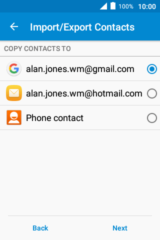 Copy contacts between SIM and mobile phone - Alcatel Pixi 4 (3 5