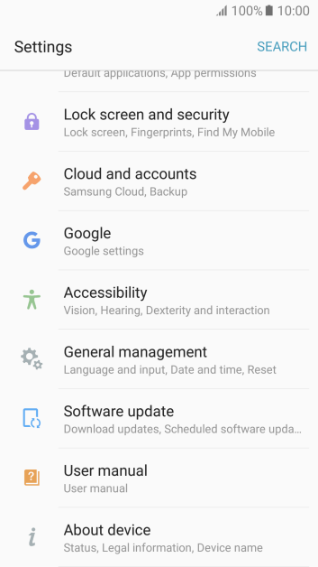 Update software - Samsung Galaxy A5 (2017) - Optus