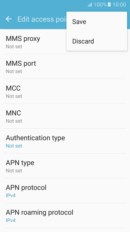 Set up your mobile phone for MMS - Samsung Galaxy S7 - Optus