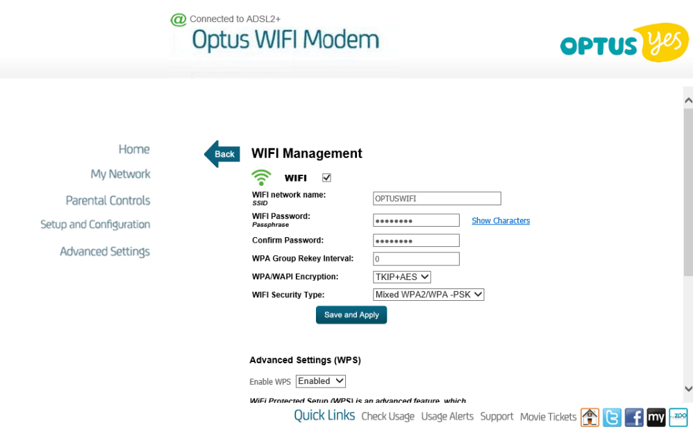 how to change modem name