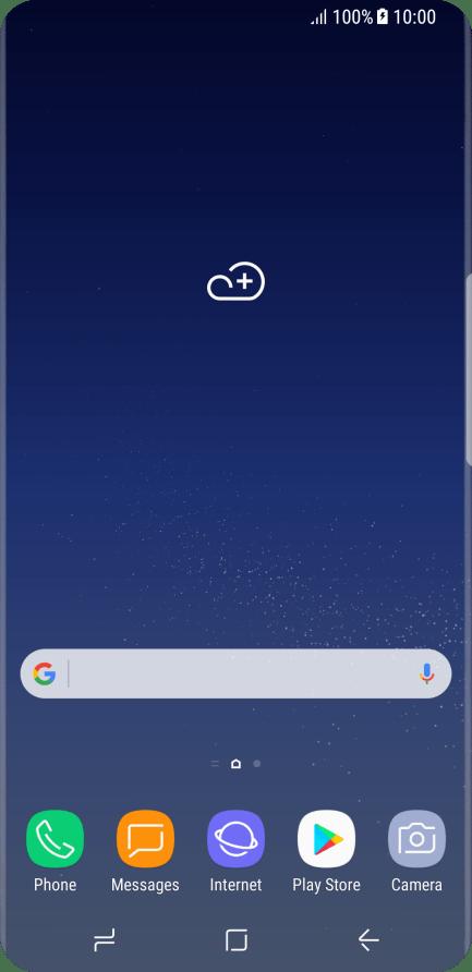 List of screen icons - Samsung Galaxy S8 - Optus