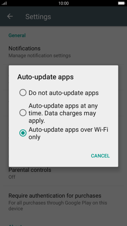 Turn automatic update of apps on or off - OPPO F1s - Optus