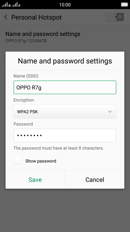 Use mobile phone as Wi-Fi Hotspot - OPPO R7 - Optus