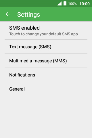 Set up your mobile phone for SMS - Alcatel Pixi 4 (3 5) - Optus