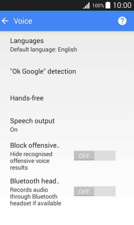 Choose settings for voice dialing - Samsung Galaxy J1 - Optus