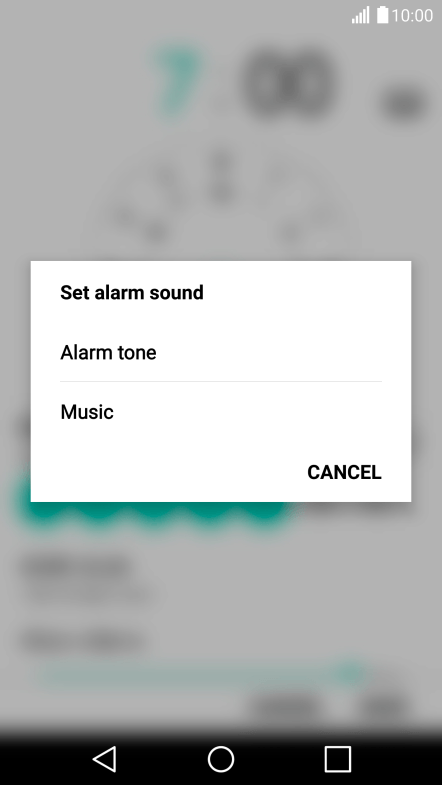 Setting an alarm on my mobile phone - LG G5 - Optus