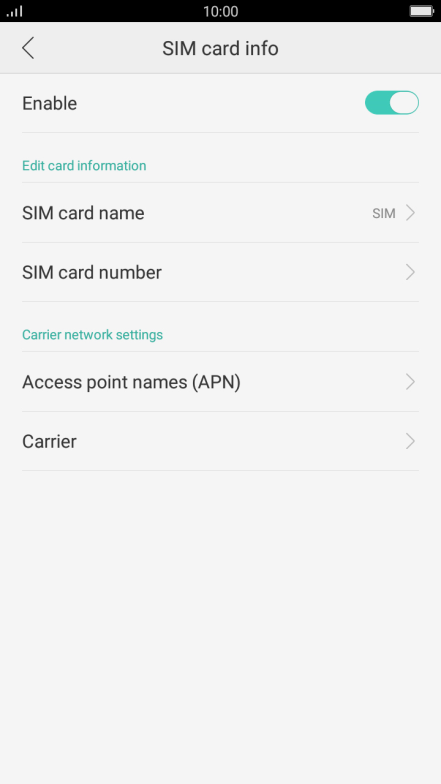 Choose a network - OPPO F1s - Optus