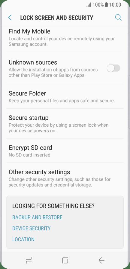 Change PIN - Samsung Galaxy S8 - Optus