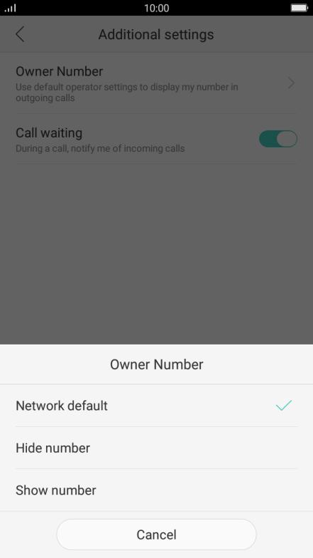Turn caller identification on or off - OPPO F1s - Optus
