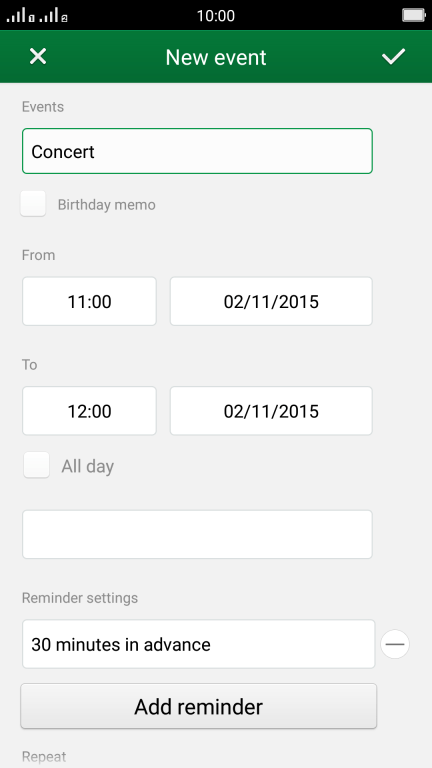 Creating a calendar appointment on my mobile phone - OPPO R7 - Optus