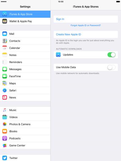 Activate Apple ID on tablet - Apple iPad Air - Optus