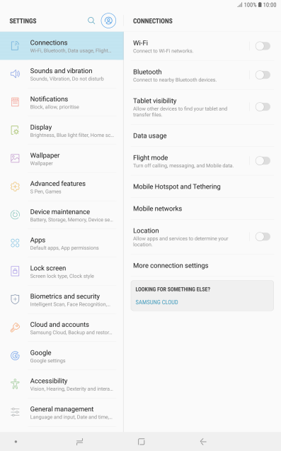 Use tablet as Wi-Fi Hotspot - Samsung Galaxy Tab S4 - Optus