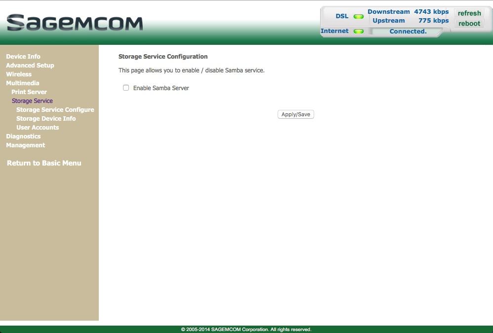 optus sagemcom f st 3864 manual