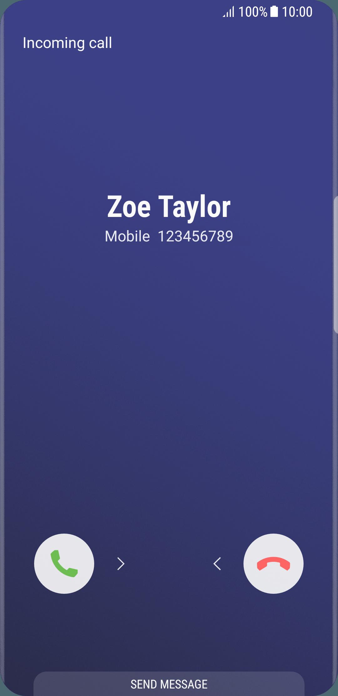 Answer Call Samsung Galaxy S8 Optus
