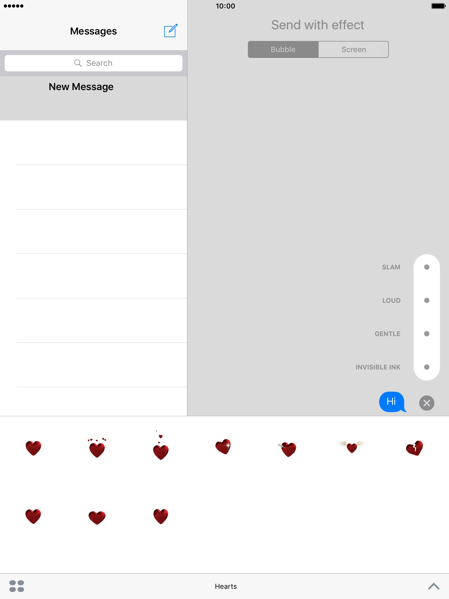 how to send text messages from ipad air
