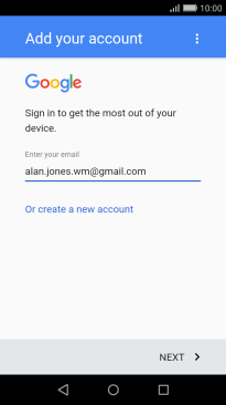 make an account for google