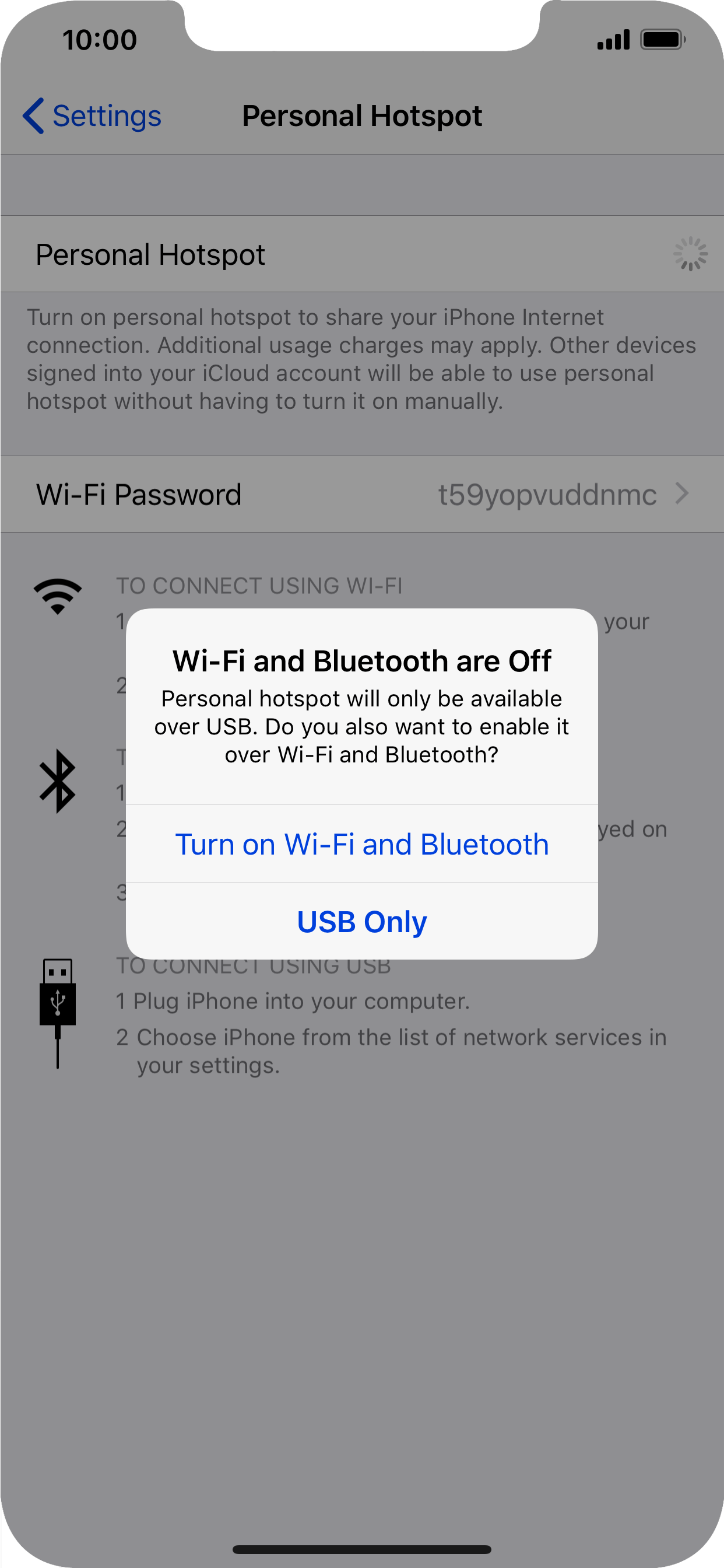 How to turn on personal hotspot on iphone xs max