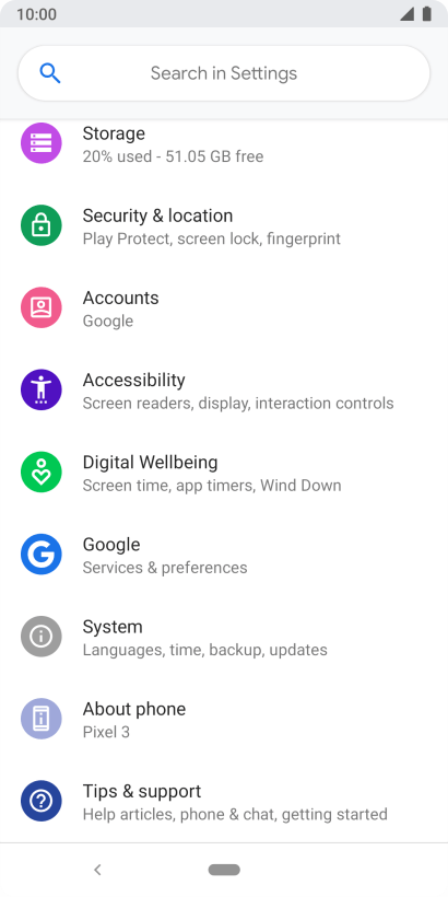 Google Pixel 3 - Turn use of phone lock code on or off | Vodafone