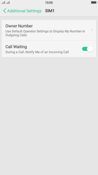 OPPO R11 - Turn call waiting on or off | Vodafone Australia