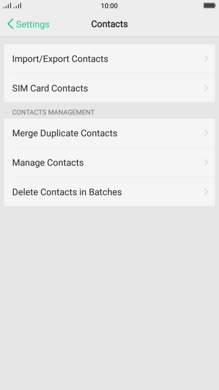 OPPO R11 - Copy contacts between your SIM and your phone