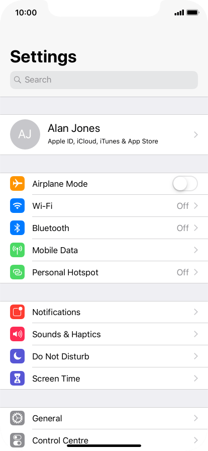 Apple iPhone XR - Select settings for background refresh of