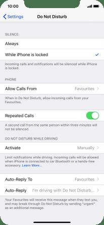 Apple iPhone XR - Use Do Not Disturb   Vodafone Australia