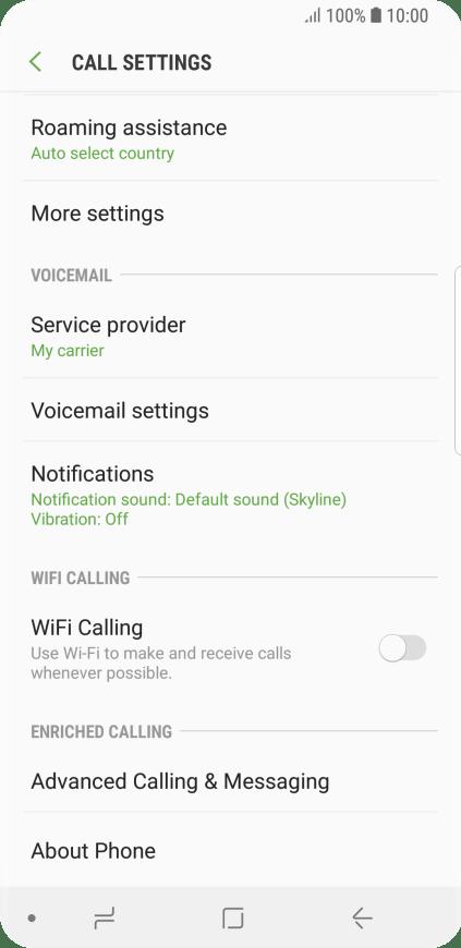 Samsung Galaxy S9 - Turn call barring on or off | Vodafone