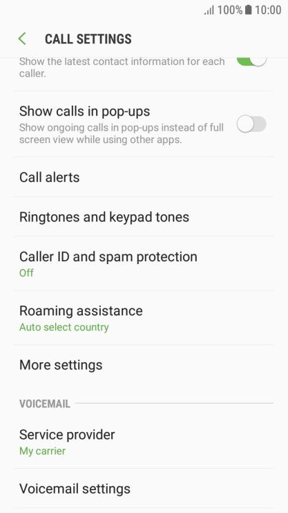 Samsung Galaxy J3 (2017) - Turn call waiting on or off