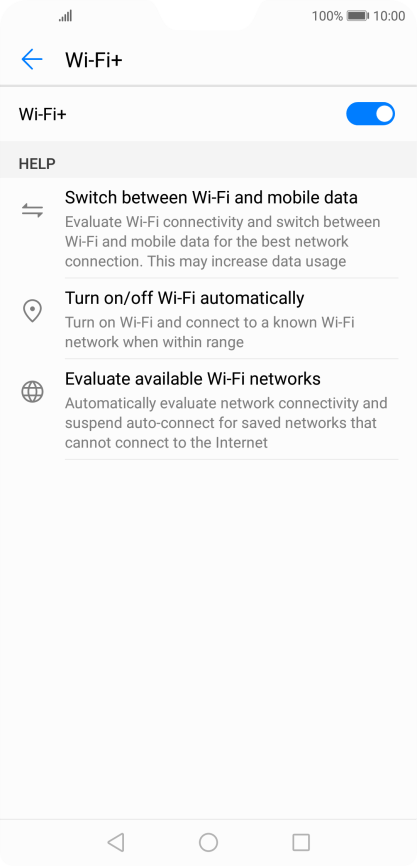 Huawei P20 Pro - Turn automatic use of mobile data on or off