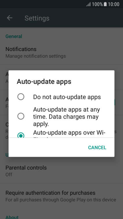 Samsung Galaxy J5 (2017) - Turn automatic update of apps on