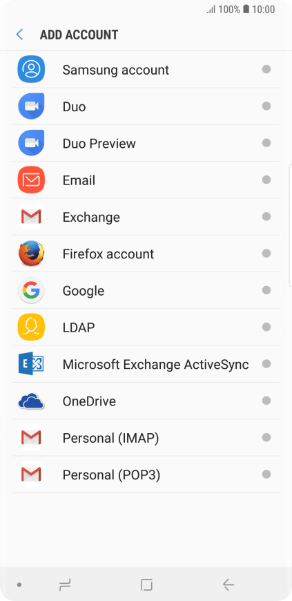 Samsung Galaxy Note9 - Activate Google account on your phone