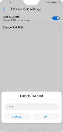 Huawei P20 Pro - Turn use of PIN on or off   Vodafone Ireland