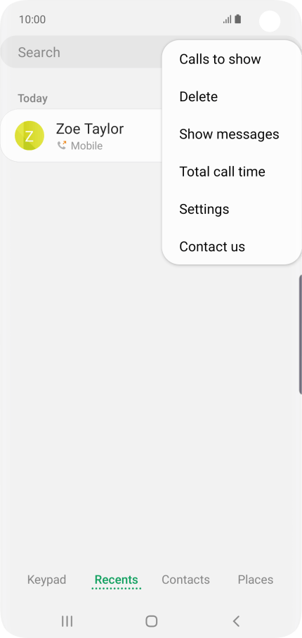 Samsung Galaxy S10 - Turn your own caller identification on or off