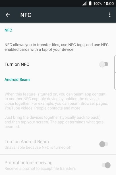 BlackBerry KEYone - Turn NFC on or off   Vodafone UK