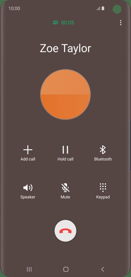 Samsung Galaxy S10 - Answer a call | Vodafone UK