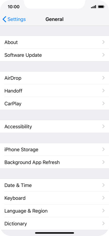 Apple iPhone Xs - Select settings for background refresh of