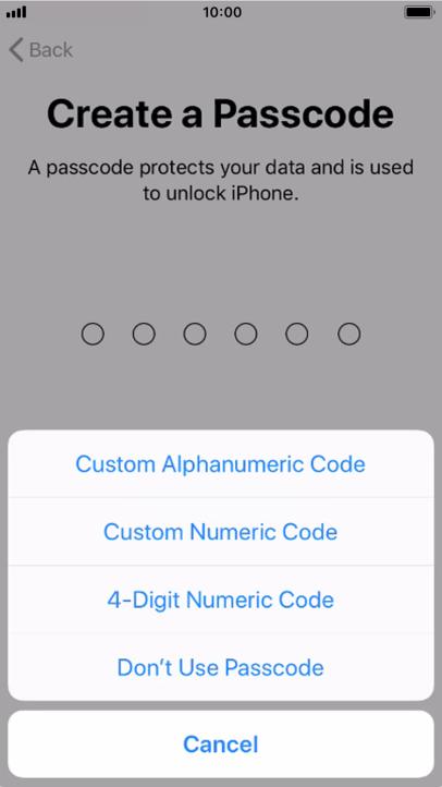 Passcode plus your regular