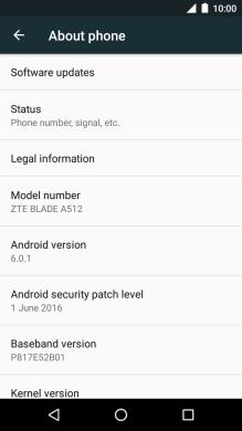 ZTE Blade A512 - Update phone software   Vodafone UK