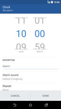 HTC Desire 530 - Set an alarm | Vodafone UK