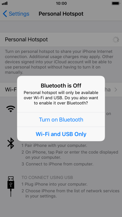 Apple iPhone 8 - Use your phone as a personal hotspot