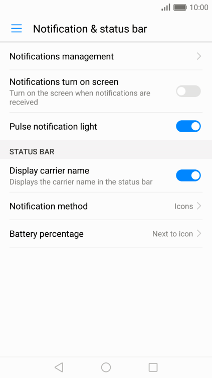 Huawei P10 - Turn notifications on or off | Vodafone Australia