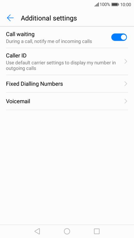 Huawei Y7 - Turn call waiting on or off   Vodafone Australia