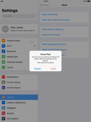 Apple iPad (5th generation) - Restore factory default