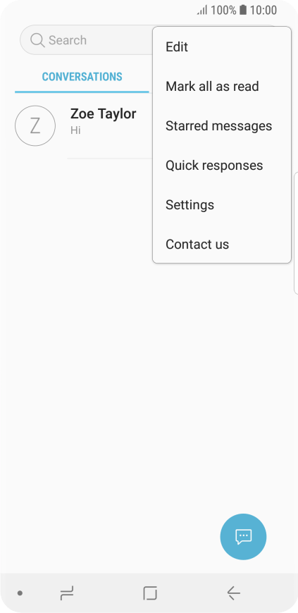 Samsung Galaxy S9 - Set up your phone for text messaging